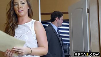 Big ass office bitch gets anal drilled by her boss 7 min